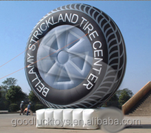 Outdoor giant inflatable tyre promtion advertising