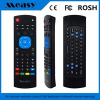 MEASY GP811 2.4G Mini PC Wireless Qwerty Keyboard 4 in One Fly Air Mouse Multifunctional Infrared Remote Learning Control