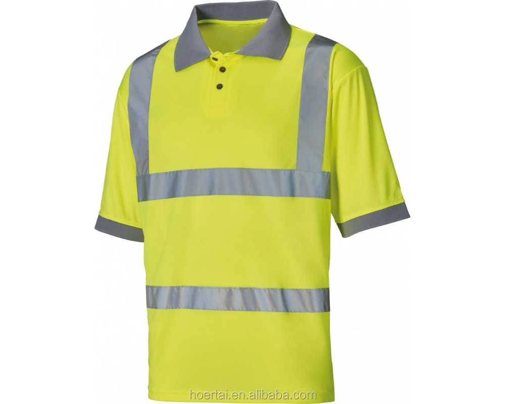 High Visibility Safety Polo Shirt,fashion clothing Crew neck 100% cotton custom t shit