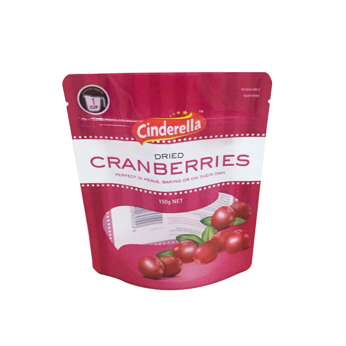 FDA support reusable plastic pouch for Cran berries