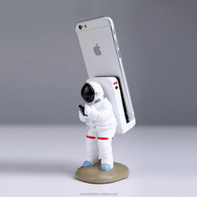 Unique Astronaut Resin Desktop Stand phone Holder For iPhone X 7 8 Plus