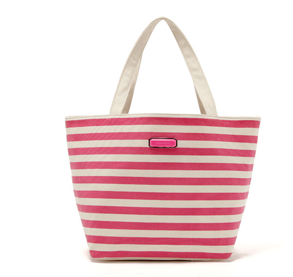 100% organic canvas rope handle beach bag, cotton canvas tote handbag for promotional gifts