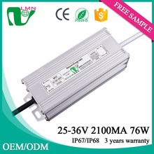 36V 2100ma waterproof constant current led driver