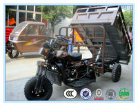 2015 new hot sale150-300 cc low oil consumption hydraulic dumper motorcycle truck 3-wheel tricycle