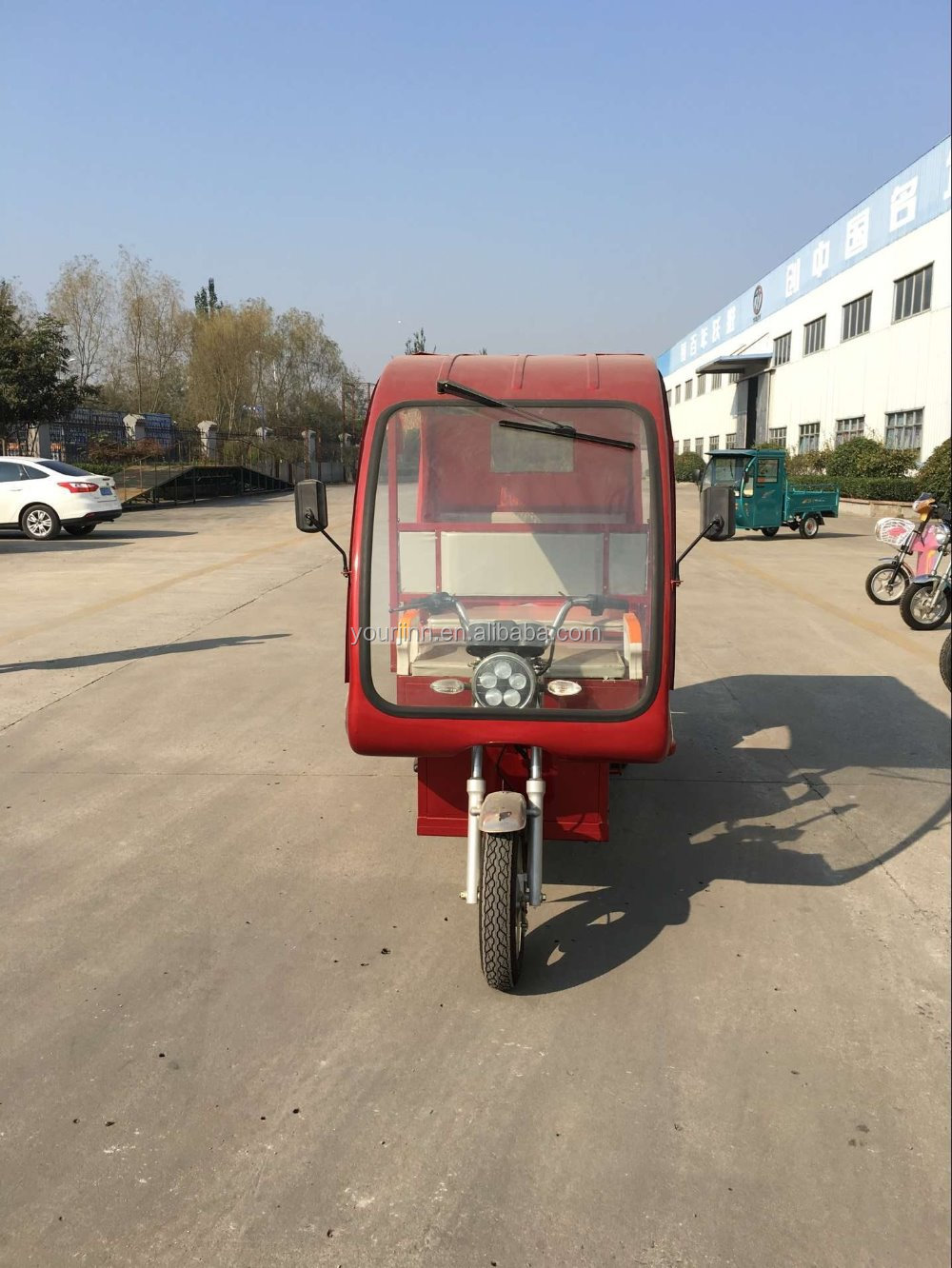 Chinese electric passenger tricycle