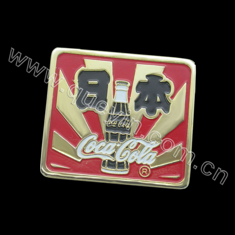 custom lacquer Japan drink badge pin