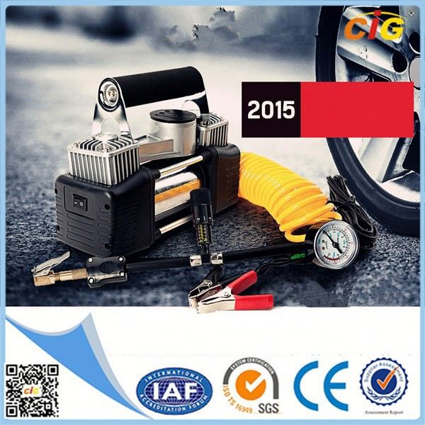 CE Approved Portable 12v mini air compressor tire inflator