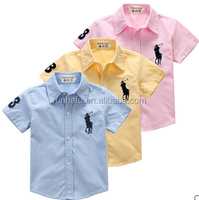 terylene oxford lawn embroider T/C boy shirt