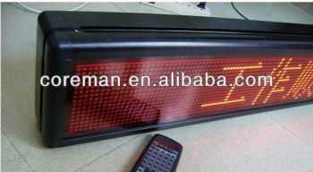 new 2013 Message led display board remoter controll p4 ,f3.75 single red dot matrix led moving sign