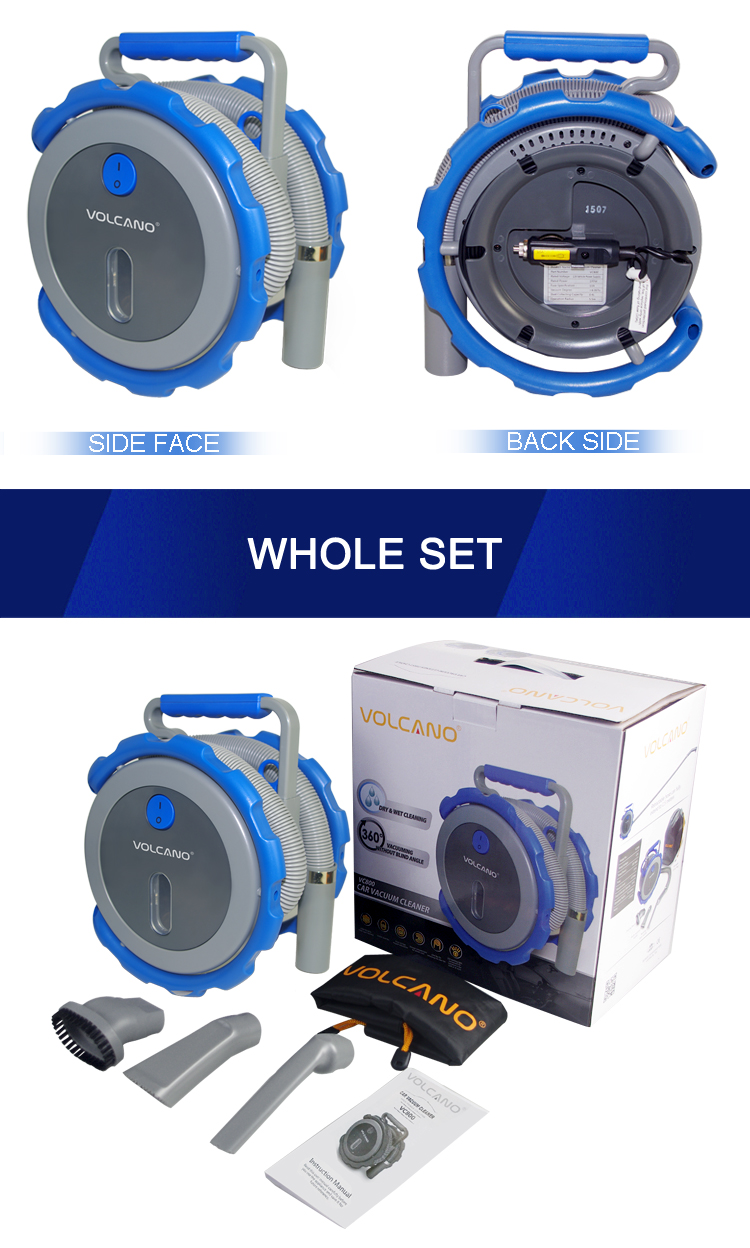 Hot Sell portable car vacuum cleaner fashion design for ocean blue vacuum cleaner
