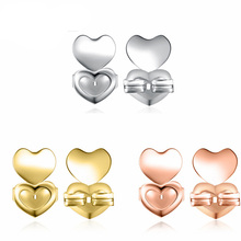 Magical Bax Three Heart Earring Lifts 2 Pairs of Adjustable Hypoallergenic Earring Holder Fits Earrings Jewelry Accessory