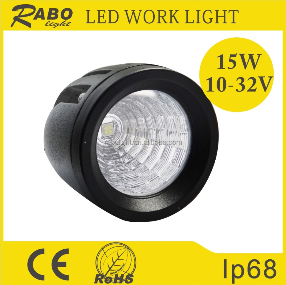 High Quality commercial electric 15W 12v round LED Driving light LED waterproof IP68 Work Light LED OFF Road Light