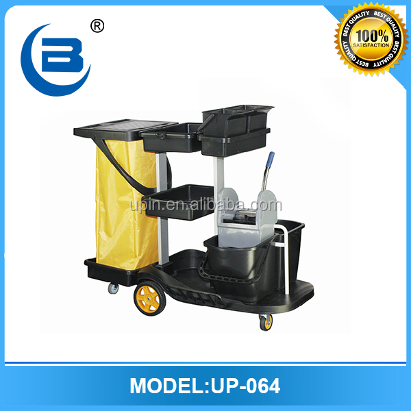 All types of cleaning service trolley cart for hotel