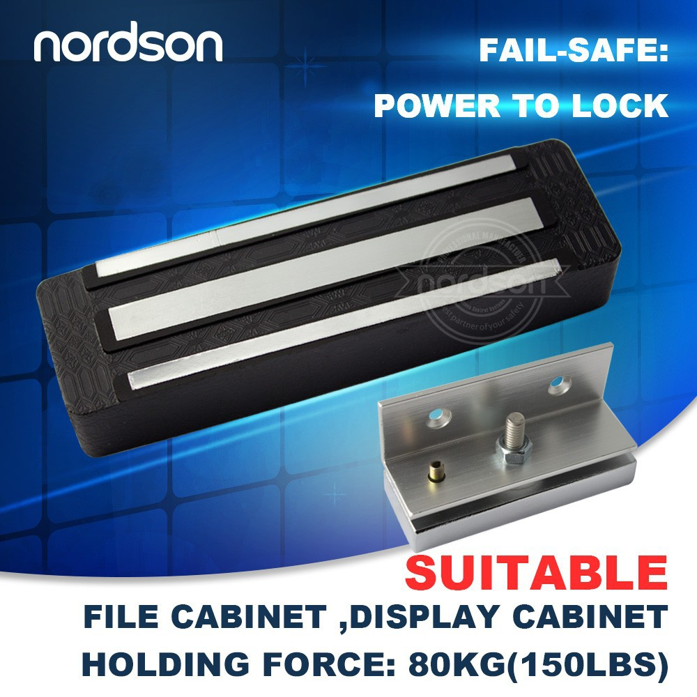 Mini magnetic Lock With Bracket for File Cabinet / Disply Cabinet (NE-80)
