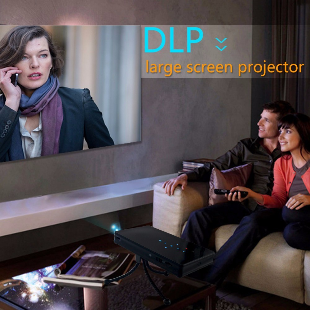 2017 DLP Micro Projector C2 TF Card Android 4.4 Home Theater Wifi Mini Projector