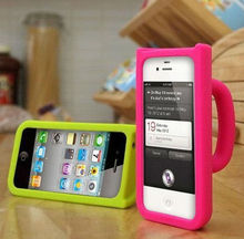 For apple plastic cups shapes case cover for iphone 4 4s cup silicone case