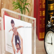 Family picture peaceful acrylic magnetic photo frame for sale