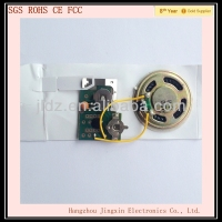 Musical greeting card sound chip with customized sound and message