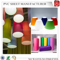 0.4mm white pvc embossed material for lampshade