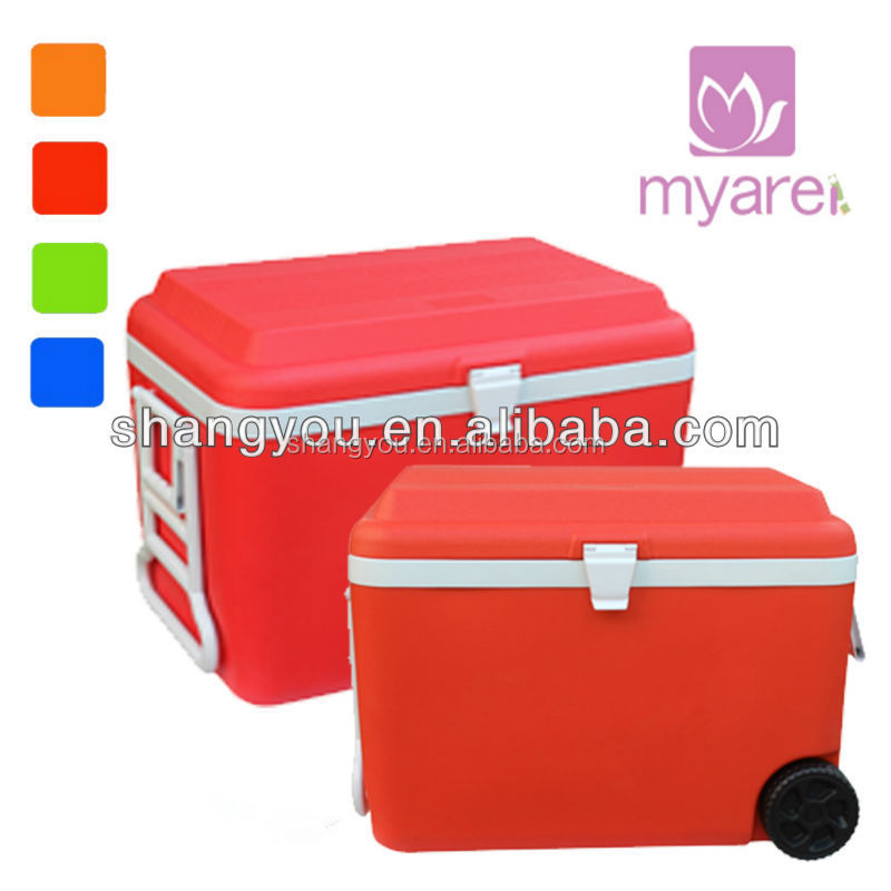 60L insulated cooler box with wheels