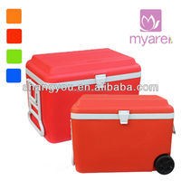60L insulated type beer ice cooler box with wheels