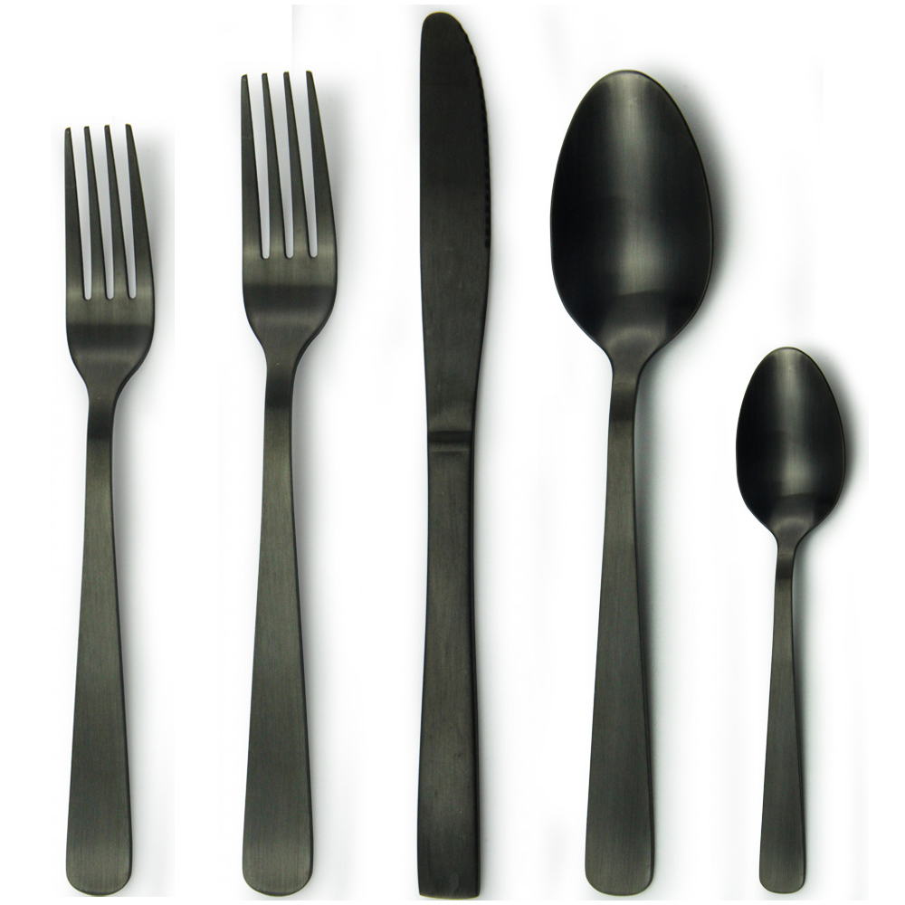 Dishwasher safe Australia hot sale restaurant matte black cutlery
