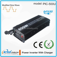 500W UPS Function 12V 220V Power Inverter with Battery Charger