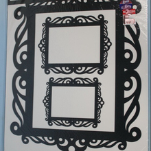 Square Photo Frame Self Adhesive Removable Wall Sticker for Kids Room