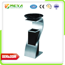 Public Decorative Advertising Dustbin Model Design Type Hotel Large Stainless Steel Trash Bin With Ashtray Stand