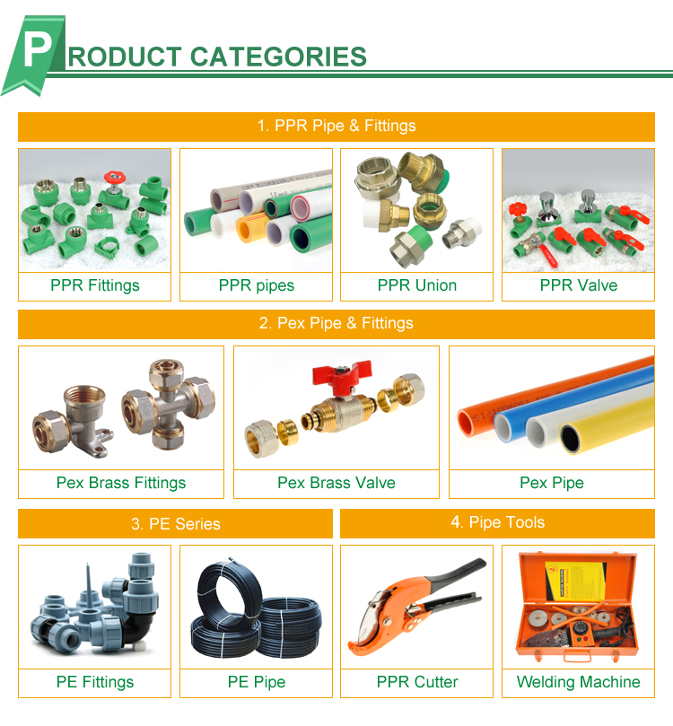 Superior Quality PPR Pipe Fitting plastic PN25 DN20 PPR Pipes and Fittings