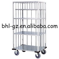 Multipurpose hotel stainless steel cleaning trolley dirty linen sheet collection hospital linen trolley sundries trolley XL31