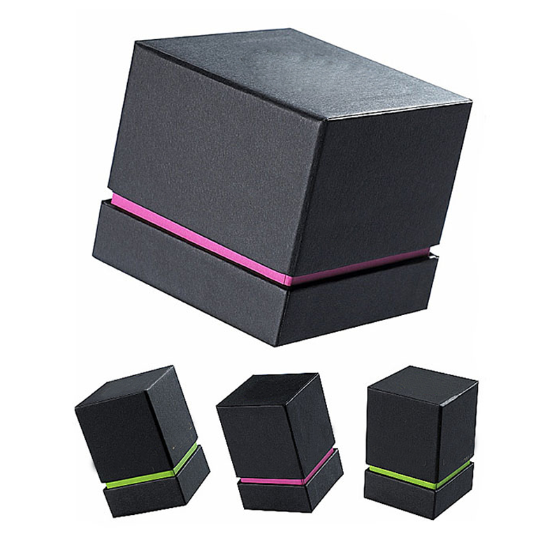 Custom Cardboard Packaging Paper Black Candle gift Box