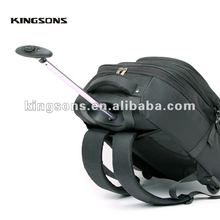 "Kingsons Top Quality 15.6"" 1680D Nylon Trolley Laptop Backpack&Bag"