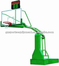Electric movable hydraulic basketball hoop stand