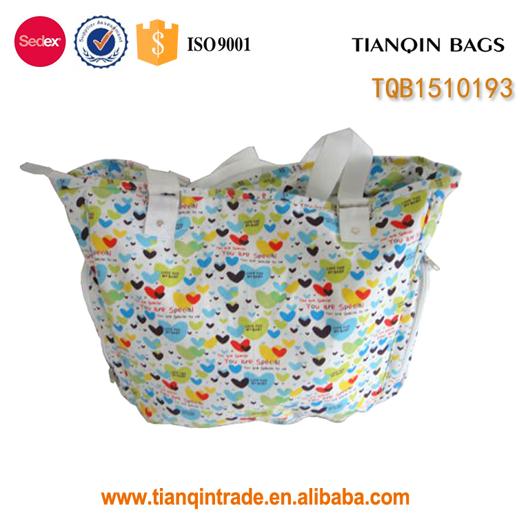 printed canvas best fashion diaper bag for baby