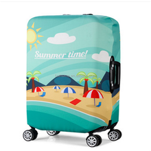 Promotional customized printed travel suitcase bag stretch luggage cover