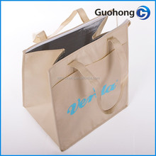 Customized logo printing insulated non woven cooler bag, lunch cooler bag