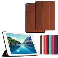 New Arrival 3 Folding Kurst Flip Book Style PU Leather Case For Ipad Mini 4