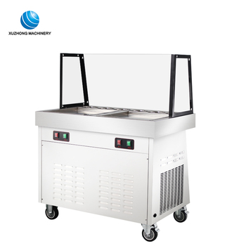 portable fried ice cream roll machine electric fry ice cream machine for small business