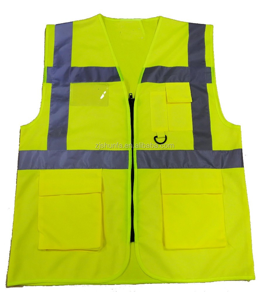 Hi Visibility Factory PPE Work Uniform Airport Reflection Protective Safety Clothing With Pocket Workwear Vest