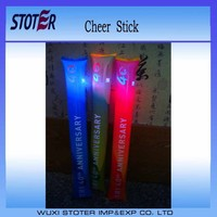 PE glow inflatable cheering sticks , flash bam bam stick , light up balloon clappers