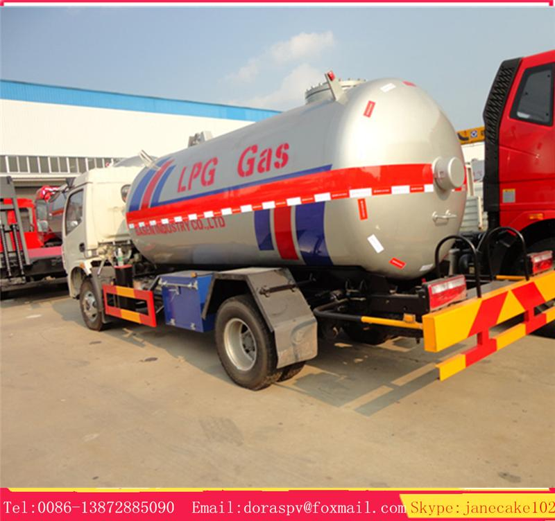 New design dfac mini tanker for liquid gas lpg dispensing truck