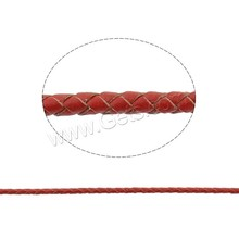 Different size for choice Cowhide flat leather cord