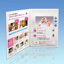 "Popular A5 4.3"" lcd brochure, electronic cards, video folder brochure"