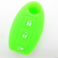 Colorful fashion hotsale silicone rubber car key cover with car logo
