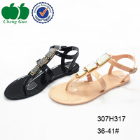 high quality women jelly pvc sandals shoes with rhinestones