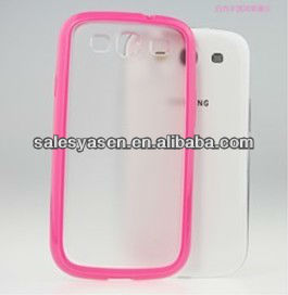 For samsung galaxy s3 transparent case PC+TPU