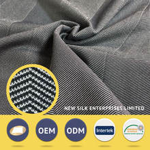 Soft handle nylon polyester jacquard knitted stretch denim fabric