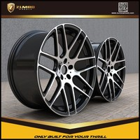 ZUMBO RS7 Black Machine Face Car Aluminum Alloy Wheel