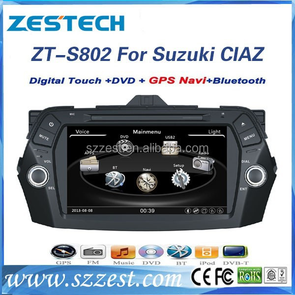 ZESTECH Car accessories for SUZUKI CIAZ 8 inch 2 din Car audio for SUZUKI CIAZ with GPS NAVIGATION+FULL MULTIMEDIA SYSTEM